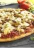 Pizza : Crottin de chèvre rondelles d'asperges tomatées et fleu