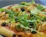 Pizza jambon de Parme mozzarella et chèvre