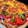 Pizza multicolore ! Brocolis Jambon et Mozzarella