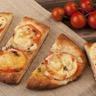Pizza tomates fraîches et mozzarella