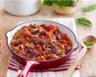 Poêlée de bœuf aubergines et tomates façon moussaka