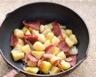 Poêlée de jambon pommes de terre et oignons