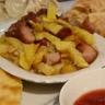 Poêlée de pommes de terre et échine de porc
