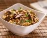 Poêlée de riz aux poireaux champignons et parmesan