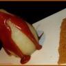 Poires pochées au sirop et caramel beurre salé