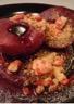 Poires pochées au vin rouge et épices