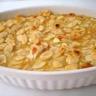 Poires rôties aux amandes sauce caramel au beurre et à la vanille