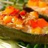 Poivron farci au gratin de légumes crème soja-avoine (recette bio et végétarienne)