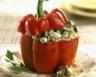 Poivrons farcis au risotto de champignons