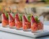 Poivrons mascarpone et piment d'espelette en verrines