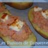 Pommes de terre farcies jambon feta