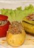Pommes de terre tomates et courgettes farcies en cocotte