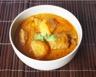 Porc au curry lait de coco et nouilles chinoises