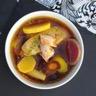 Pot au feu de foie gras homard et légumes anciens