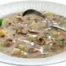 Potage aux champignons et pommes de terre