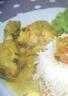 Poulet au curry et au coco