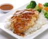 Poulet au miel et à la moutarde riz et petits légumes