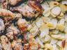 Poulet au vin blanc et oignons