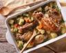 Poulet aux carottes et pommes de terre au four
