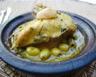 Poulet aux citrons confits et olives en cocotte