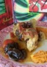 Poulet aux épices et purée de patates douces