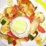 Poulet aux légumes et fruits croquants (recette des îles)