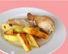 Poulet et pommes de terre rôties au romarin