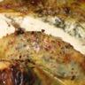 Poulet fermier des Landes farci sous la peau au persil plat cèpes échalote & piment d'Espelette