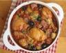 Poulet légumes et olives en cocotte