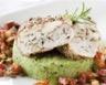 Poulet mariné aux herbes de Provence sauce chorizo et purée de courgettes