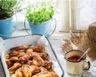 Poulet mariné aux poivrons olives et crème fraîche