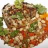 Poulet poché sauce suprème riz pilaf