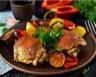 Poulet rôti au thym et pommes de terre maison