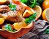 Poulet rôti aux agrumes et à l'ail
