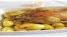 Poulet rôti aux pommes de terre et à l'ail