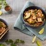 Poulet sauce aigre douce aux poivrons et citron vert
