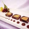 Pressé de magret et foie gras aux lentilles raves et pomme au vinaigre de mauzac pulpe de figue...