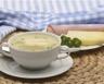 Purée d'asperges au jambon et crème fraîche