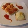 Pyramide au chou fleur et coeur de tomates cerise filet mignon de dinde au parmesan