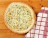 Quiche au fromage de chèvre et à la menthe fraîche