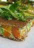 Quiche au saumon fumé brocolis et carottes cuite entre 2 galettes