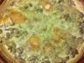Quiche aux champignons brocolis et chèvre