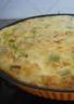 Quiche sans pâte aux poireaux saumon et boursin
