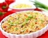 Quiche sans pâte façon pizza aux tomates jambon lardons et chorizo
