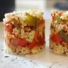 Quinoa / boulgour & fondue de poivrons à la tomate