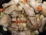 Ragout de poulet aux topinambours et pommes de terre