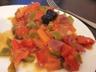 Ragoût de tomates et de poivrons à l'espagnol