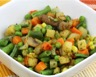 Ratatouille de pommes de terre petits pois et carottes