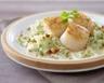 Ravioles aux Saint-Jacques et noisette sauce crème et porto blanc
