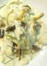 Ravioles de volaille demi lune aux chanterelles